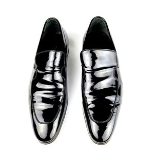 Gucci Patent Black Leather Loafers